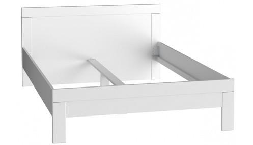 Dřevěná Dřevěná postel Snow 140x200 cm, bílá