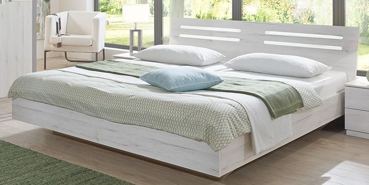 Dřevěná Dřevěná postel Susan 180x200 cm, bílá