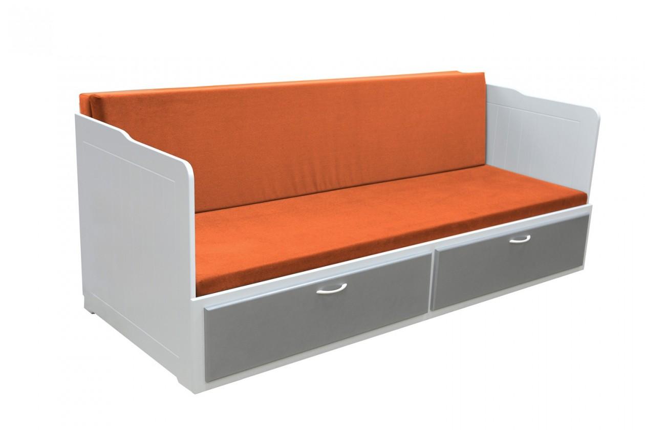 Dřevěná Frago - 2 vysoké boky (šedá, bílá/oranžová)