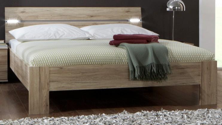 Dřevěná Madrid - Postel 180 cm (dub san remo)