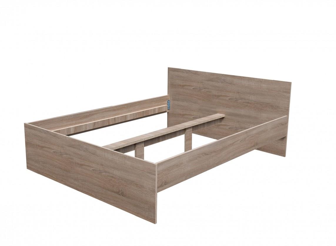 Dřevěná Nikola I - Postel 200x160 (dub sonoma 8197)