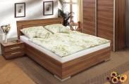 Dřevěná postel Dafne 2 180x200 cm, švestka, s úložným prostorem