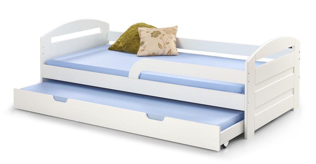 Dřevěná Postel Naty 90x200, bílá, bez matrace