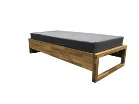 Dřevěná postel Oriosa 90x200, dub, vč. roštu, bez matrace