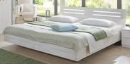Dřevěná postel Susan 140x200 cm, dub, bílá