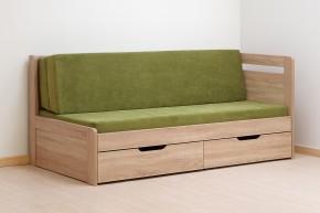 Dřevěná postel Twins 180x200 cm, dub, s úložným prostorem
