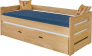 Dřevěná postel Vario, 90x200, vč. roštu a úp, bez matrace