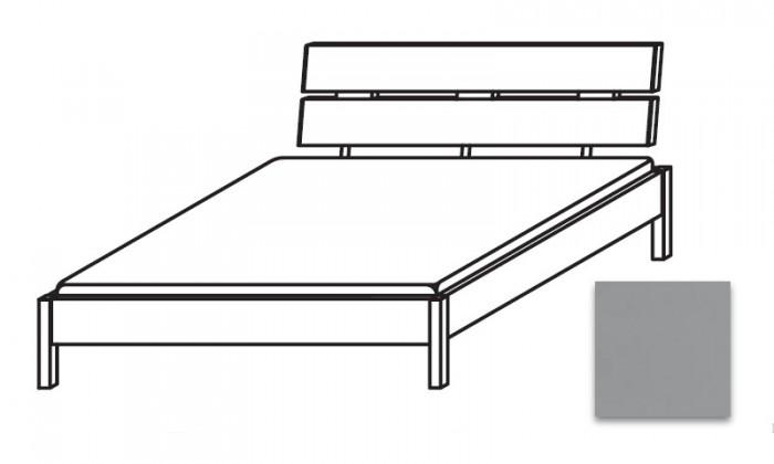 Dřevěná Quadra - postel 140x220 cm, bez roštu, bez matrace