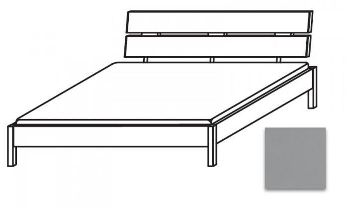 Dřevěná Quadra - postel 160x210 cm, bez roštu, bez matrace