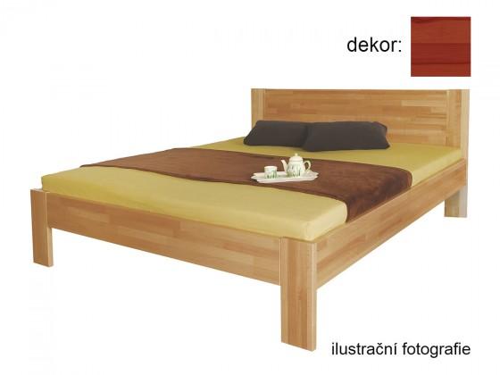 Dřevěná Rám postele Gemma 200x220 (masívní buk/lak: barva třešeň)