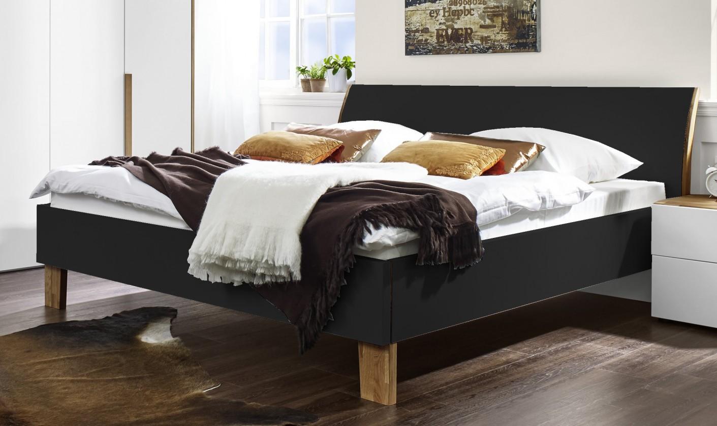 Dřevěná Shape - 200x140 (antracit lak ultramat, dřevěné nohy)