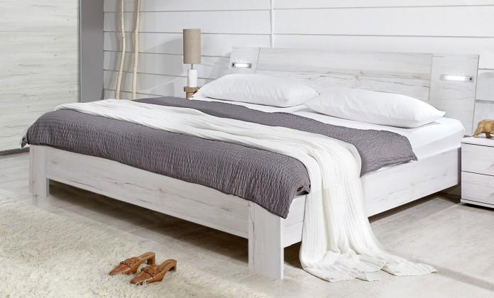 Dřevěná Vicenza - Postel 180x200 cm (dub bílý)
