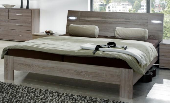 Dřevěná Vicenza - Postel 180x200 cm (dub montana)