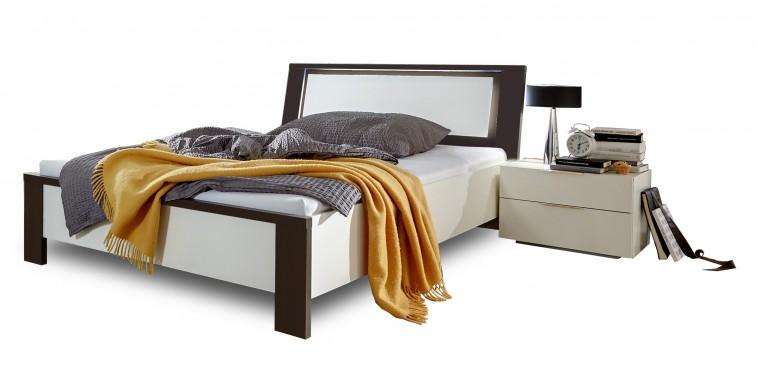 Dřevěná Viva - komplet, postel 140cm (aplská bílá, lava černá)