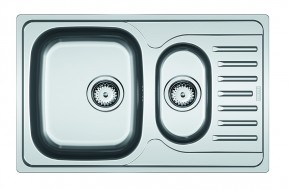 Dřez Franke - nerez PXN 651-78 3 1/2, 780x490 mm (stříbrná)