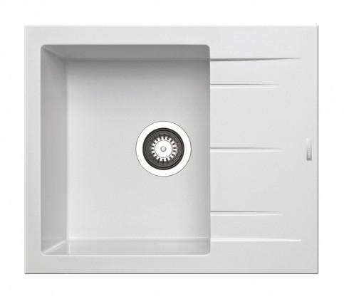 Dřez rovný Alazia-Granit. dřez 59x50,bílá