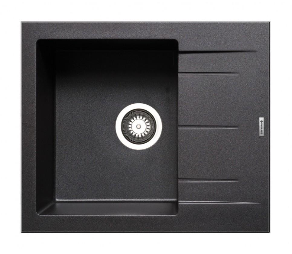 Dřez rovný Alazia-Granitový dřez 59x50,černá