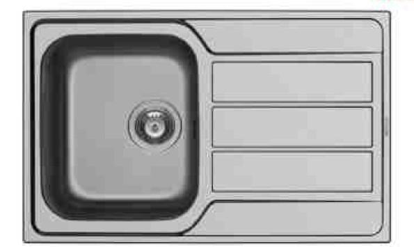 Dřez rovný Athena 1B 1D - výtok. otvor 92 (79x50)