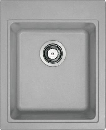 Dřez rovný Dřez Franke - Fragranit KSG 218, 425x520 mm (šedý kámen)