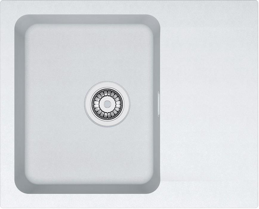Dřez rovný Dřez Franke - Tectonite OID 611-62, 620x500 mm (bílá)