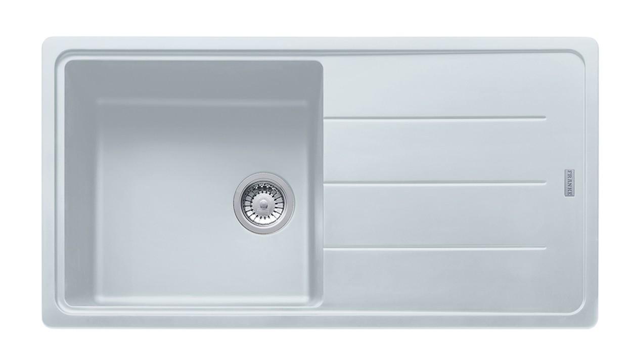 Dřez rovný Franke - dřez Fragranit BFG 611, 970x500 (bílá-led)
