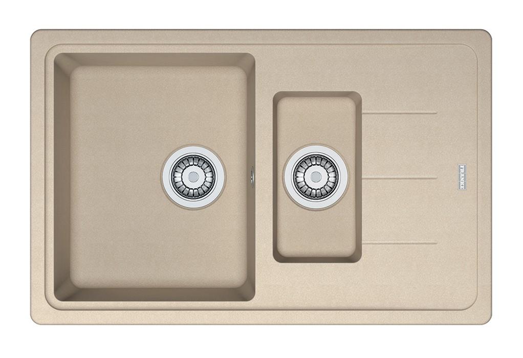 Dřez rovný Franke - dřez Fragranit BFG 651-78, 780x480 (pískový melír)