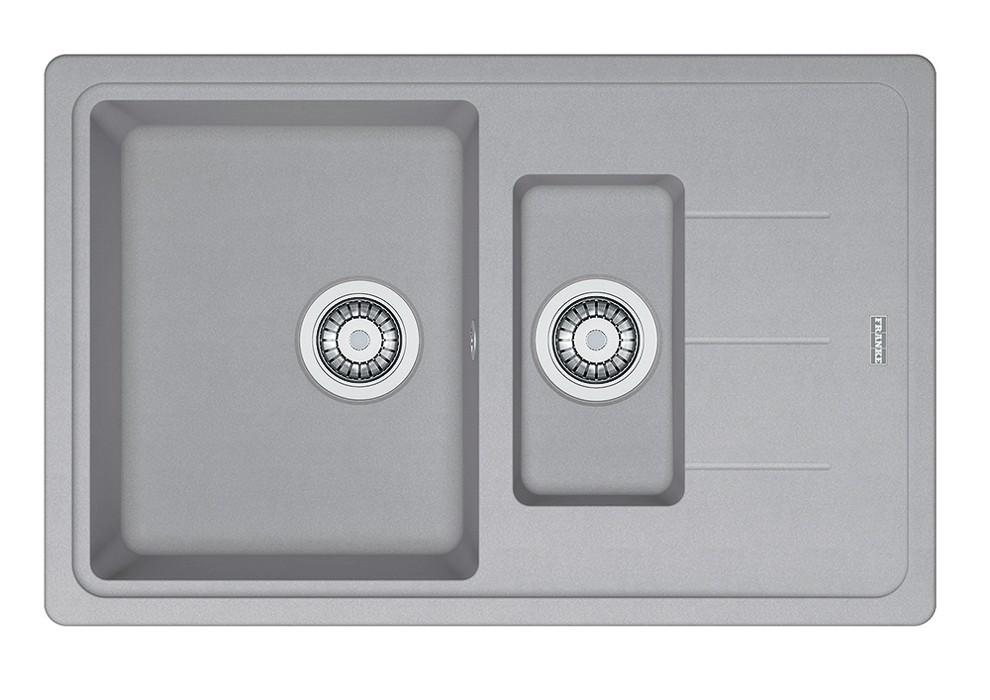 Dřez rovný Franke - dřez Fragranit BFG 651-78, 780x480 (stříbrná)