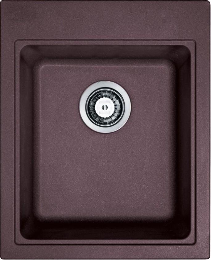 Dřez rovný Franke - dřez Fragranit KSG 218, 425x520 mm (tmavě hnědá)