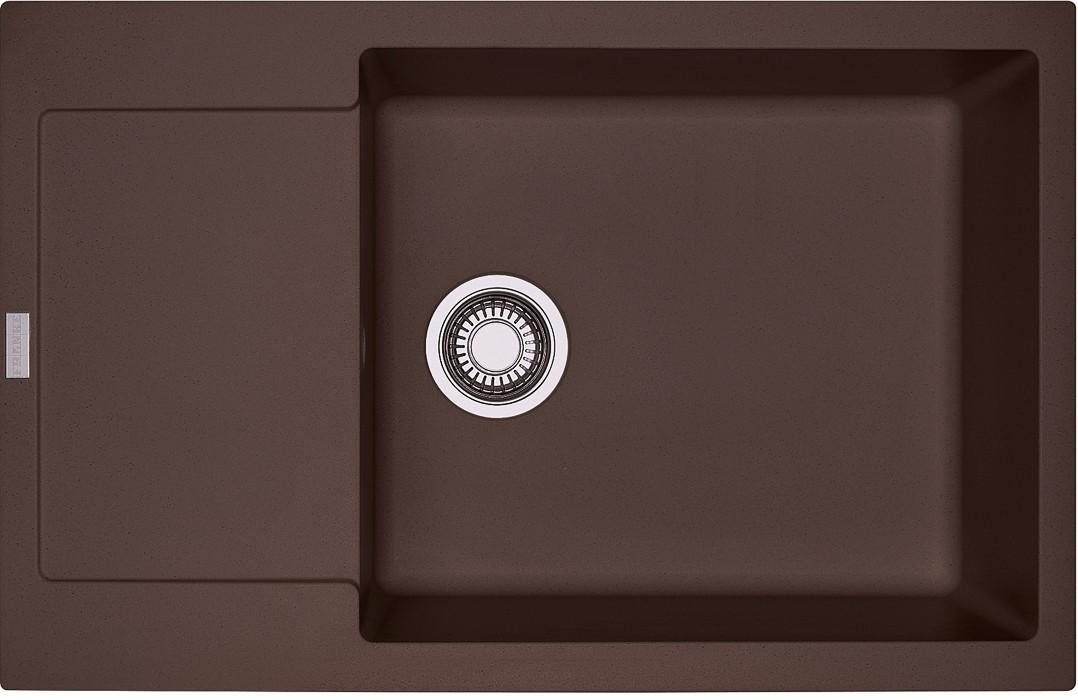Dřez rovný Franke - dřez Fragranit MRG 611-78 BB, 780x500 (tmavě hnědá)