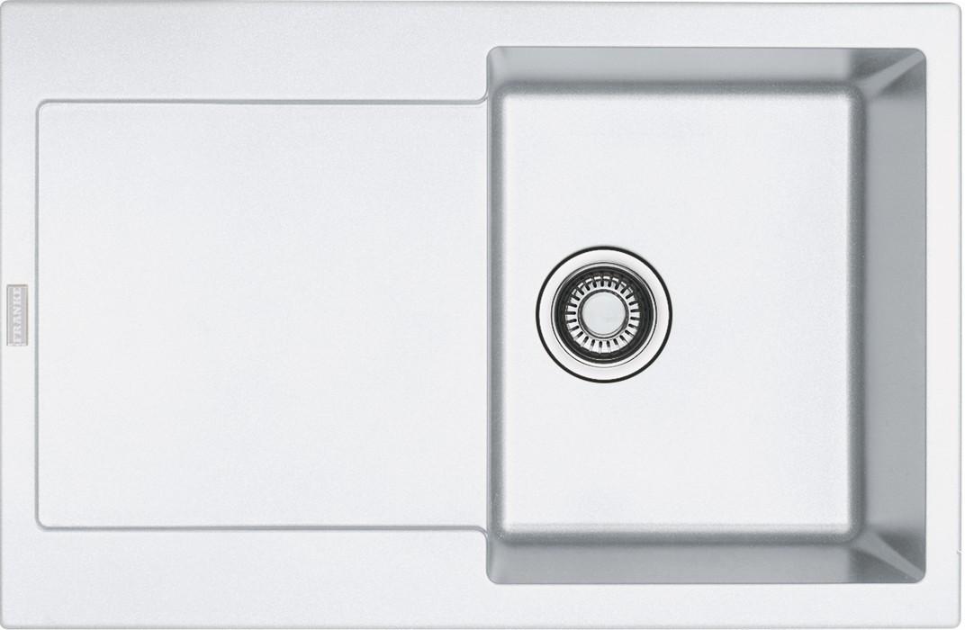 Dřez rovný Franke - dřez Fragranit MRG 611, 780x500 (bílá-led)