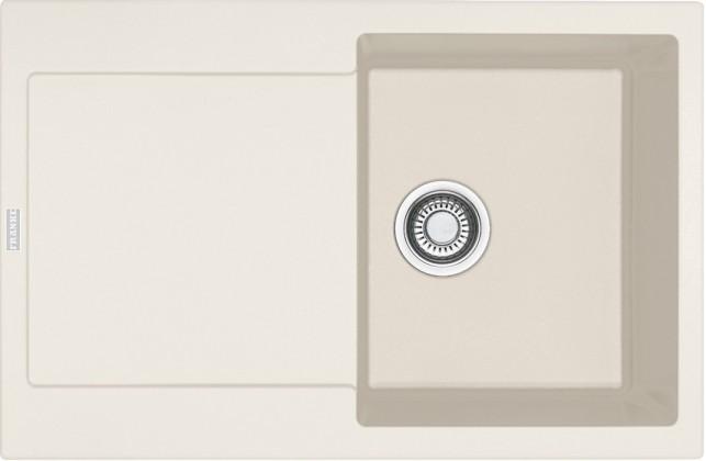 Dřez rovný Franke - dřez Fragranit MRG 611, 780x500 (vanilka)