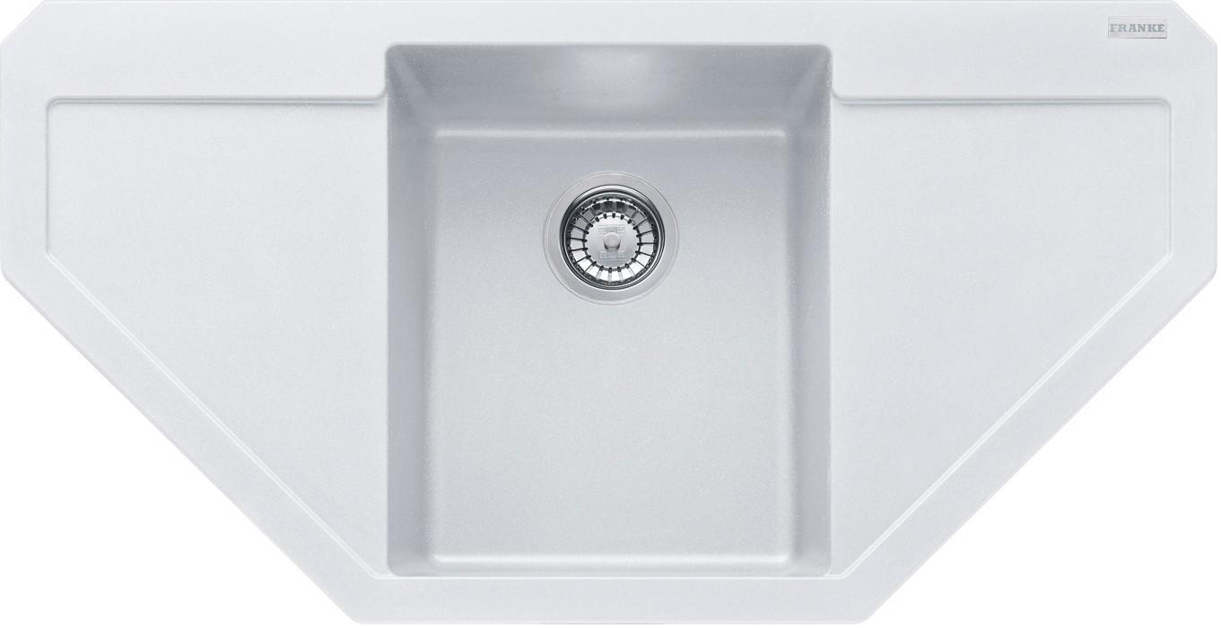 Dřez rovný Franke - dřez Fragranit MRG 612 E, 960x500, (bílá-led)