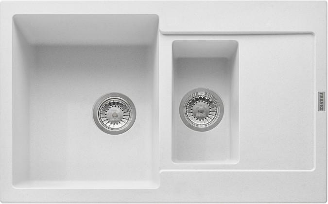 Dřez rovný Franke - dřez Fragranit MRG 651-78, 780x500 (bílá-led)