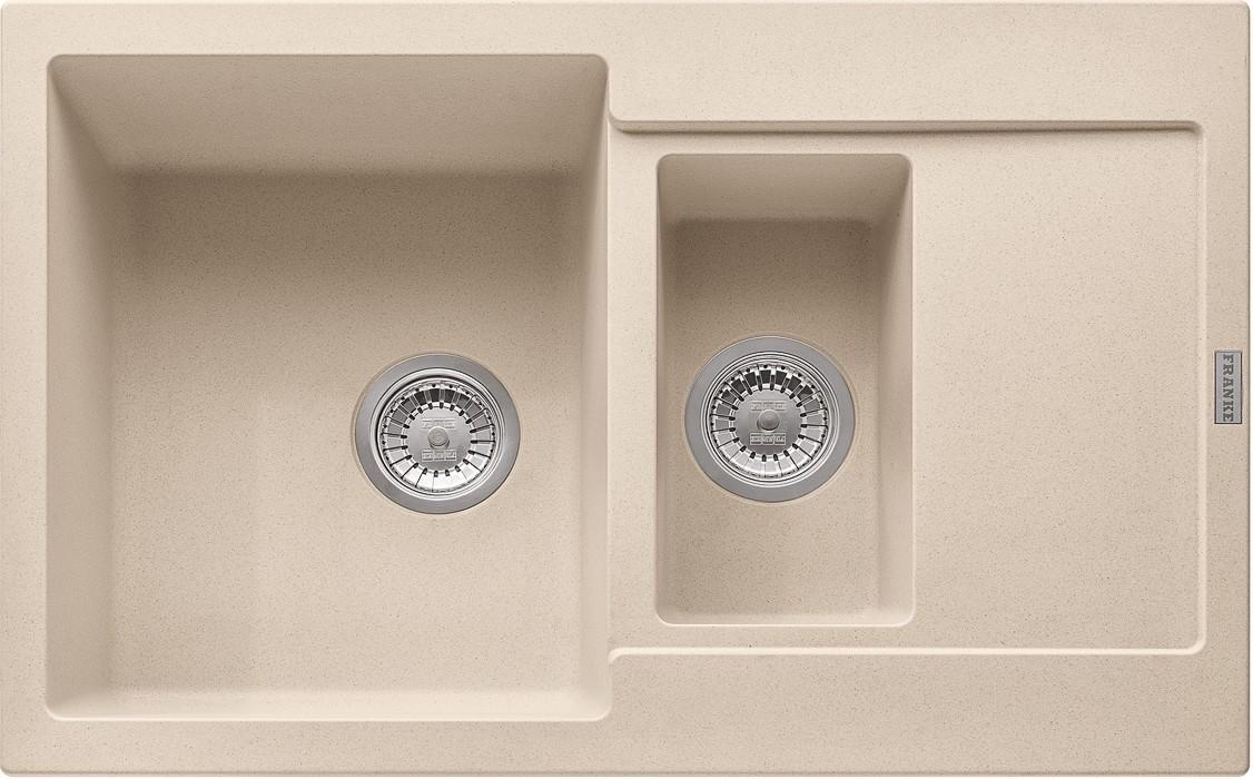 Dřez rovný Franke - dřez Fragranit MRG 651-78, 780x500 (pískový melír)