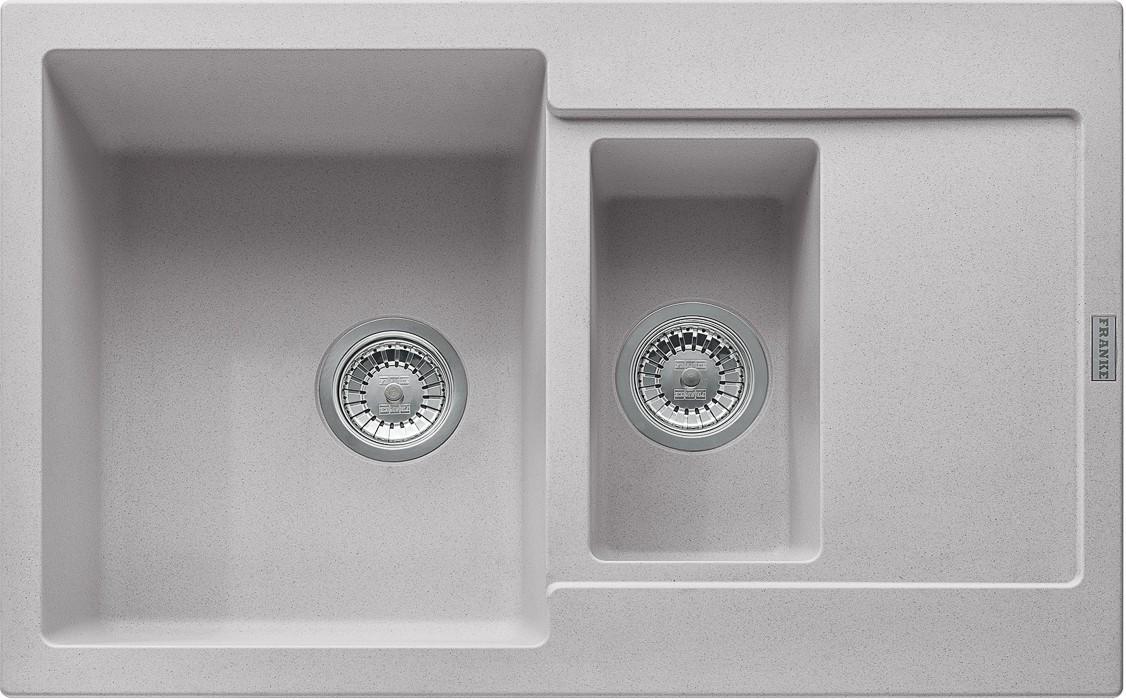 Dřez rovný Franke - dřez Fragranit MRG 651-78, 780x500 (stříbrná)