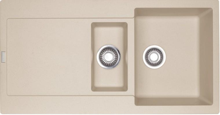 Dřez rovný Franke - dřez Fragranit MRG 651, 970x500 (pískový melír)