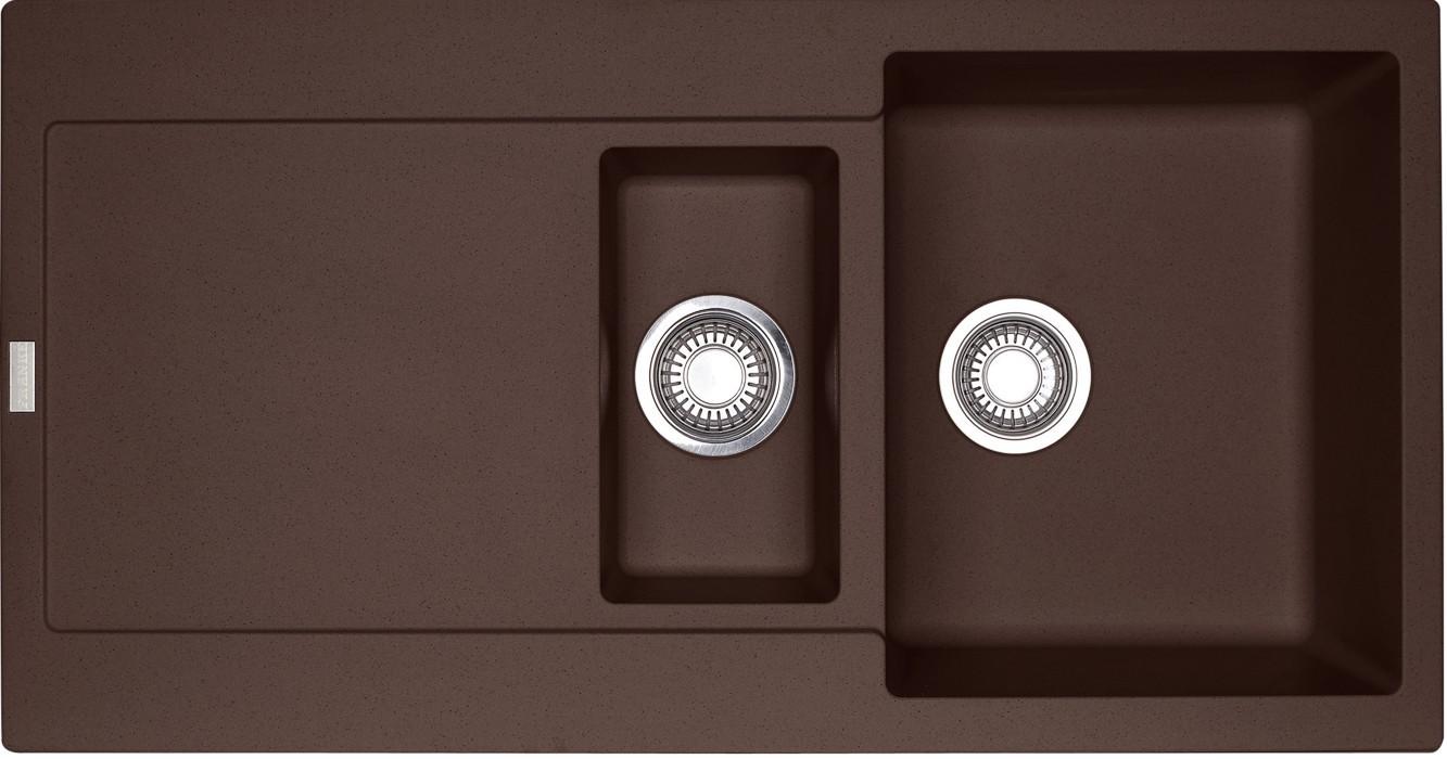 Dřez rovný Franke - dřez Fragranit MRG 651, 970x500 (tmavě hnědá)