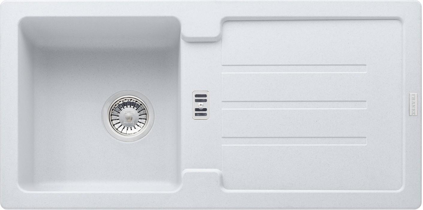 Dřez rovný Franke - dřez Fragranit STG 614, 860x435mm (bílá-led)