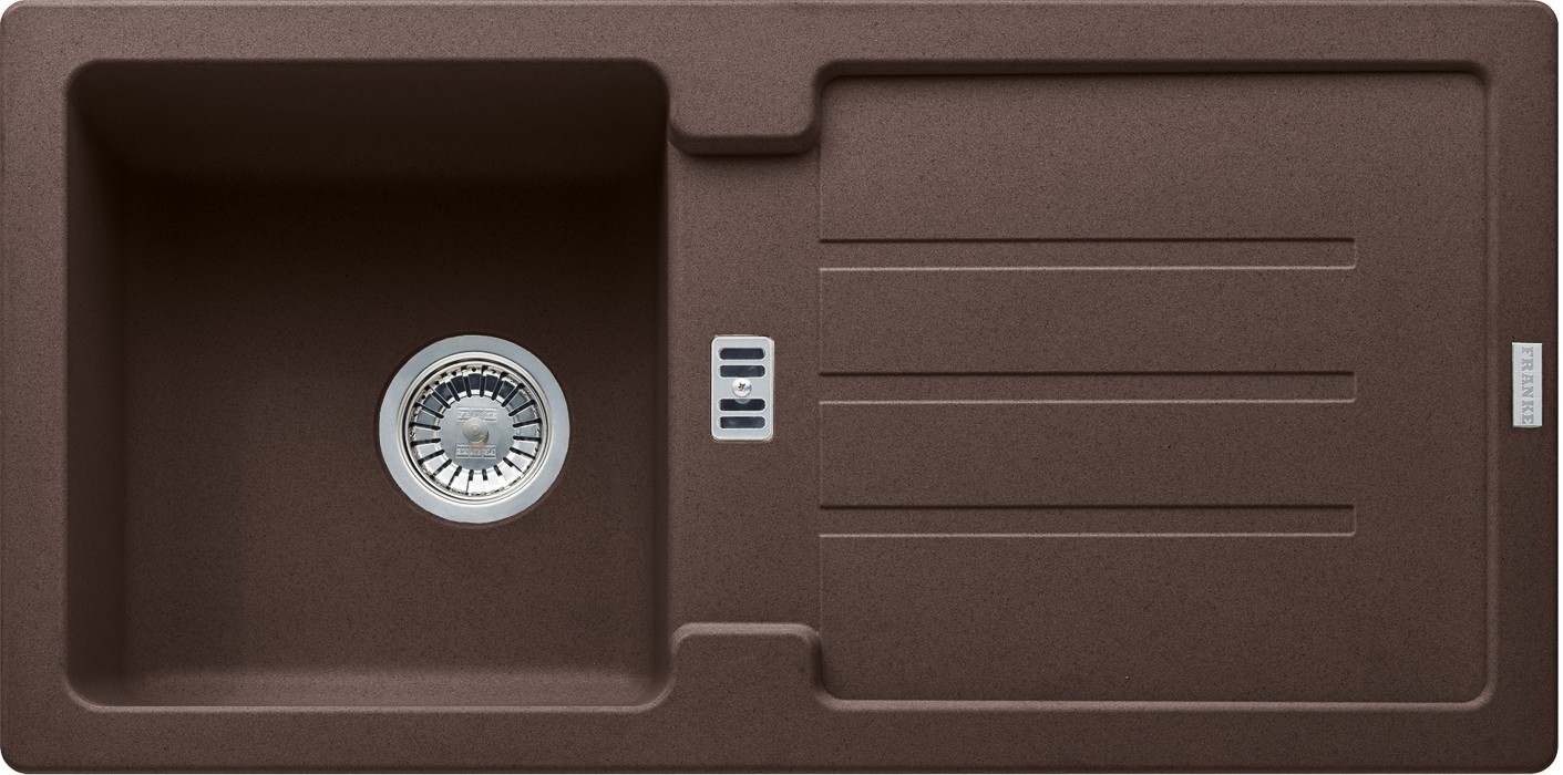Dřez rovný Franke - dřez Fragranit STG 614, 860x435mm (tmavě hnědá)