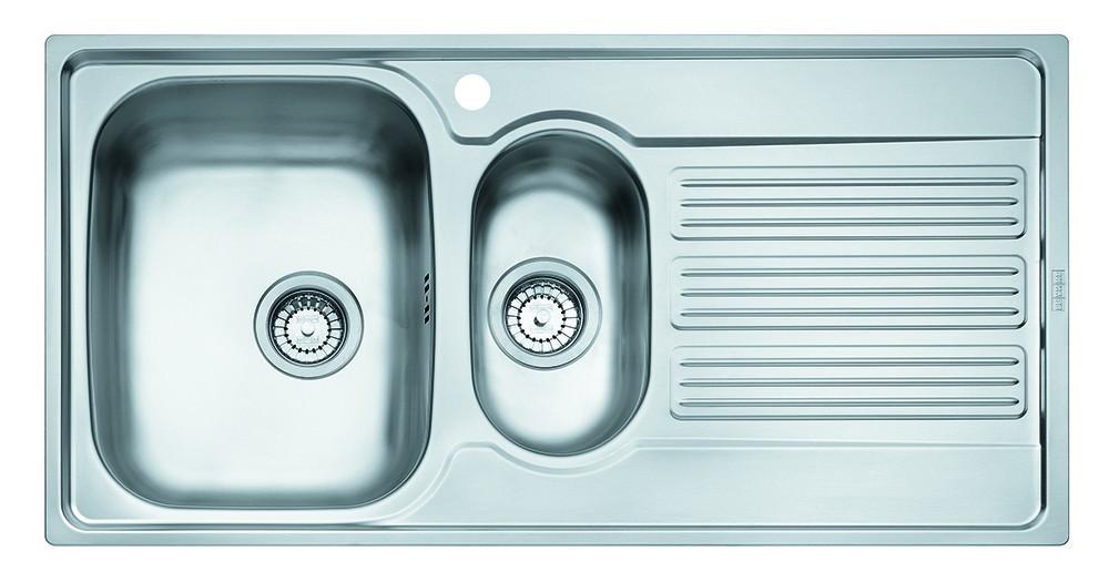 """Dřez rovný Franke - dřez nerez GOX 651 2 3 1/2"""", 1000x510 mm (stříbrná)"""
