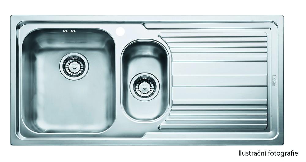 """Dřez rovný Franke - dřez nerez LLL 651 2 3 1/2"""", 1000x500 mm (stříbrná)"""