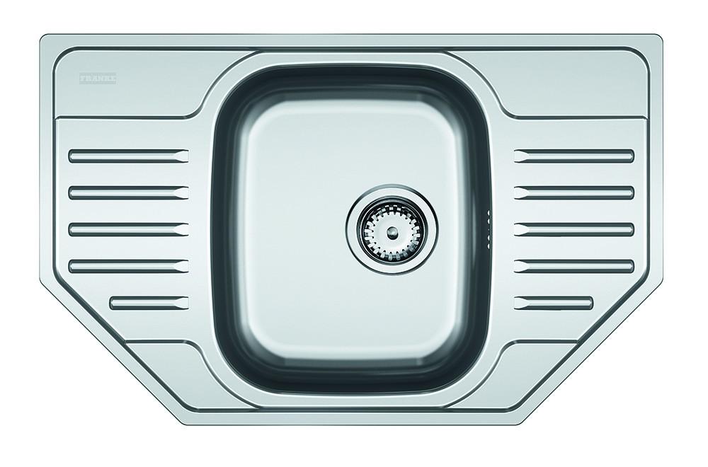 Dřez rovný Franke - dřez nerez PXN 612-E 3 1/2, 780x490 mm (stříbrná)
