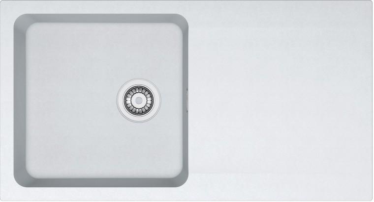 Dřez rovný Franke - dřez Tectonite OID 611, 940x510 mm (bílá)