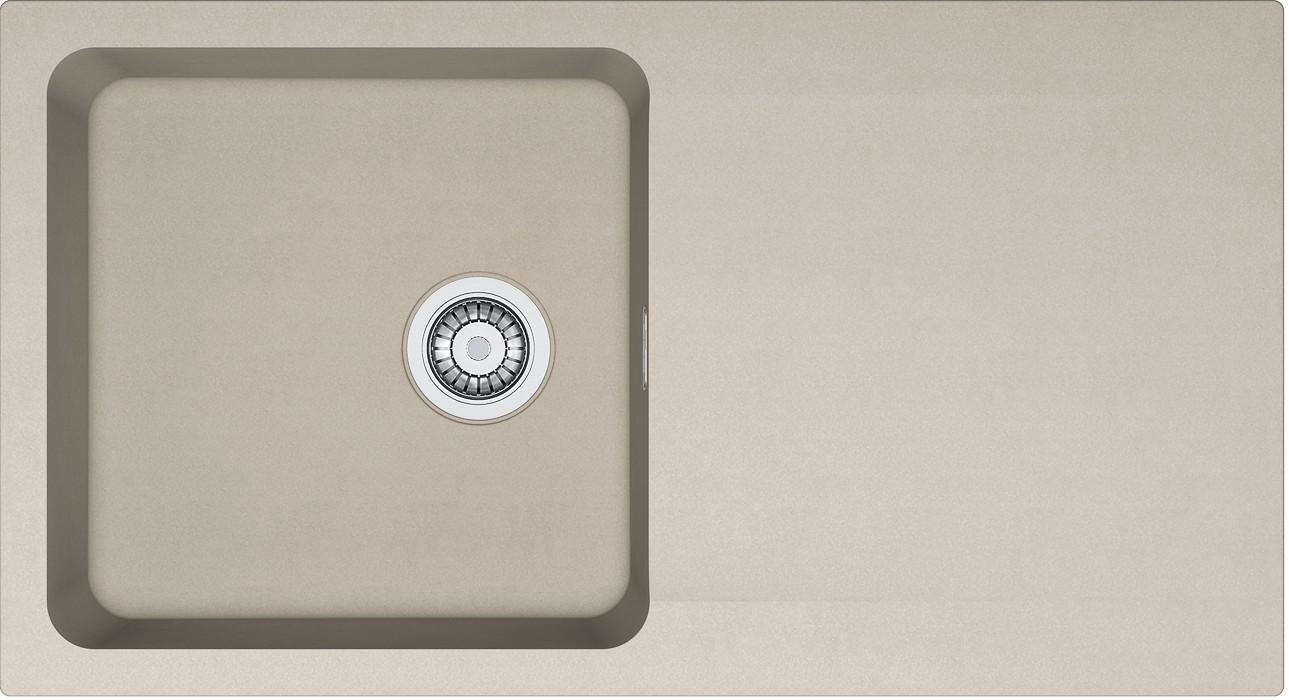 Dřez rovný Franke - dřez Tectonite OID 611, 940x510 mm (kávová)