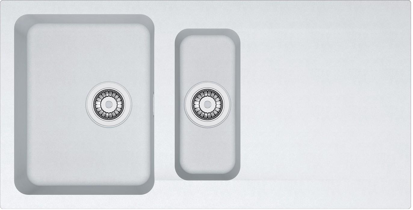 Dřez rovný Franke - dřez Tectonite OID 651, 1000x510 mm (bílá)