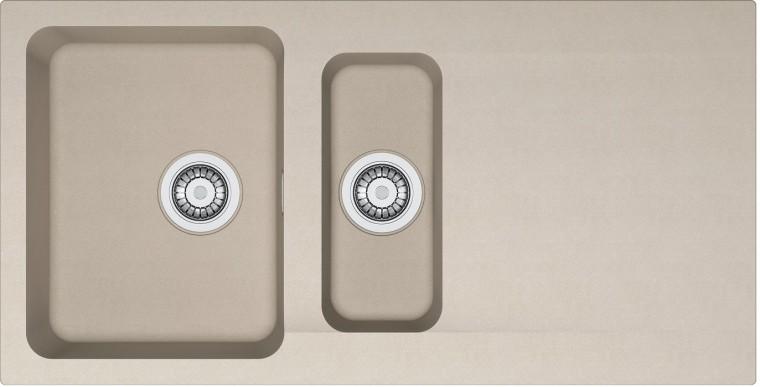 Dřez rovný Franke - dřez Tectonite OID 651, 1000x510 mm (kávová)