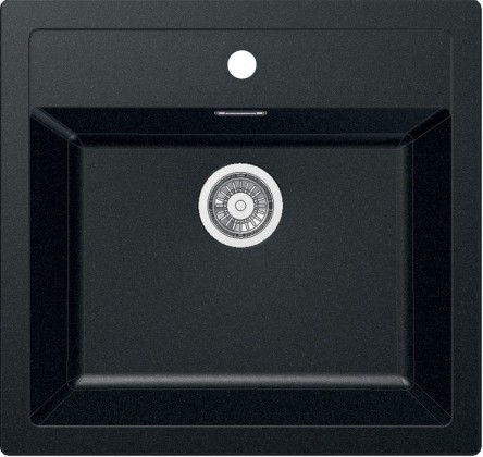 Dřez rovný Franke - dřez Tectonite SID 610, 560x530 mm (černá)