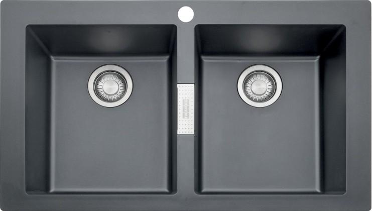 Dřez rovný Franke - dřez Tectonite SID 620, 860x510 mm (černá)