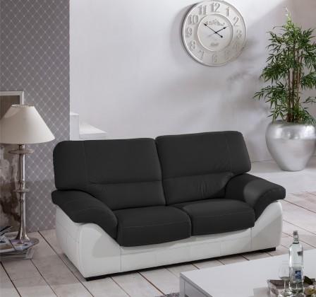 Dvojsedák Cortina-dvojsedák (black-hl. látka/white madras leather-korpus)