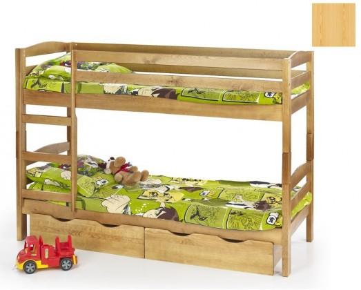 Dvoupatrová postel Sam (borovice)